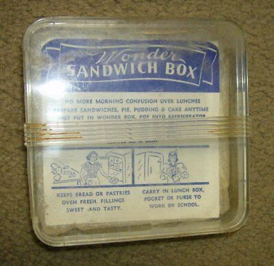 vintage 50's Wonder Bread Lunch Sandwich Shaped Container Case