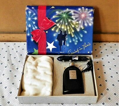 Unused Bourjois Evening In Paris Cologne & Perfume Gift Set W/pretty Holiday Box