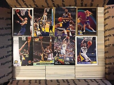 Medium Flat Rate Box full of Indiana Pacers Basketball Cards