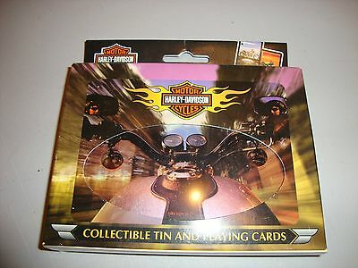 Harley Davidson Collectible Tin and Playing Cards New !!!