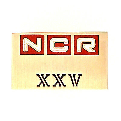 Vintage NCR National Cash Register 10K Gold 25 Years Employee Service Award Pin