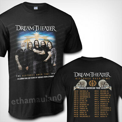 Dream Theater the Distance Over Time Tour 2019 T shirt S to 3XL MEN'S