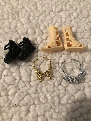Barbie Doll Shoe Lot Shoes And Necklaces