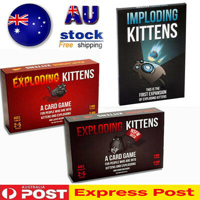 Exploding Kittens Card Game ORIGINAL + NSFW + IMPLODING Kitten Party Board Game