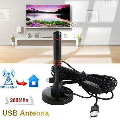 NEW Antenna TV Digital Indoor HD 200 Mile Range Skywire 1080P 4K 16ft Coax Cable