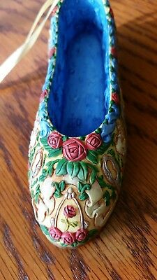 Disney Belle Miniture Decorative Shoe Ornament Preowned Display only