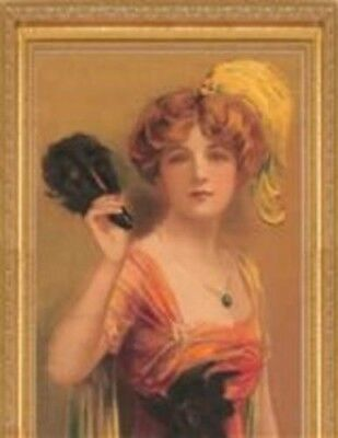 Victorian Trading Co Autumn Beauty 1920's Fashion Lithograph Yardlong Print New