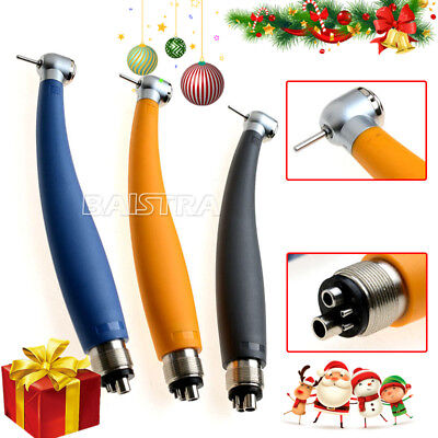 UK Dental High Speed Push Button Torque Head Handpiece Colorful Rainbow 4 Holes