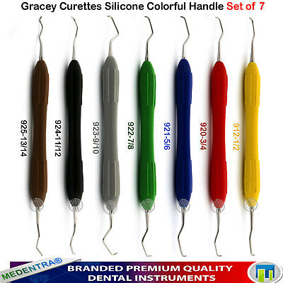 Periodontists Gracey Universal Curettes Periodontal Root Canal Scraping Set 7PCS