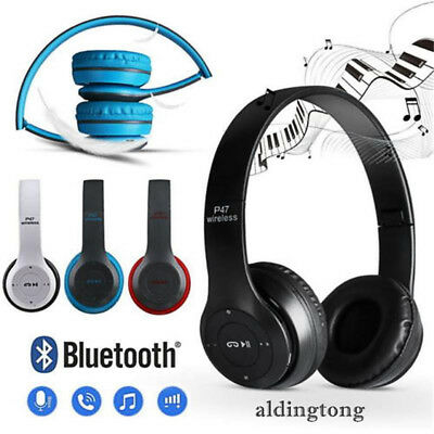 Wireless Headphones Bluetooth Headset Noise Cancelling Over Ear With Mic FM LN