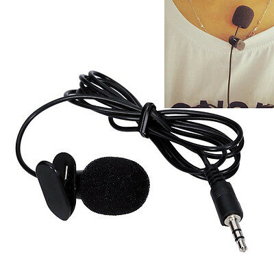 35mm Tie Clip-On Lapel Lavalier Microphone MIC For SmartPhones Recording