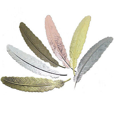 Vintage Retro Feather Shaped Metal Bookmarks For Books Office School Gift X1 ♫