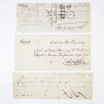 3x 1800's Early Australian Cheques