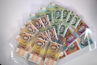 31x Australia Bank Note Collection $1 - $20 Coombs Wilson -Fraser Cole VF - aUNC