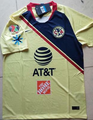 32d203476 New 2018-19 Club America Home Soccer Jersey And The LIGA MX Patch Football  shirt