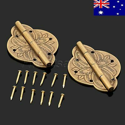 Antique Style Cabinet Door Decor Brass Hinge Chinese Gift Jewelry Box AU STOCK