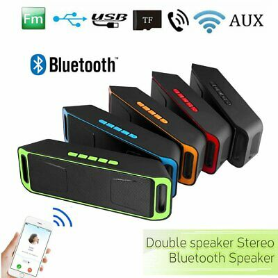 Nuevo Portátil Bluetooth Altavoz USB Flash FM Radio Estéreo Reproductor Soundbox