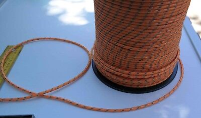 10m X 5mm ORANGE DOUBLE BRAID WITH DYNEEMA SPECTRA CORE MARINE BOAT ROPE 1300kg