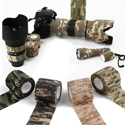 Waterproof Camouflage Bandage Wraps Elastic Adhesive First Aid Tape Stretch New