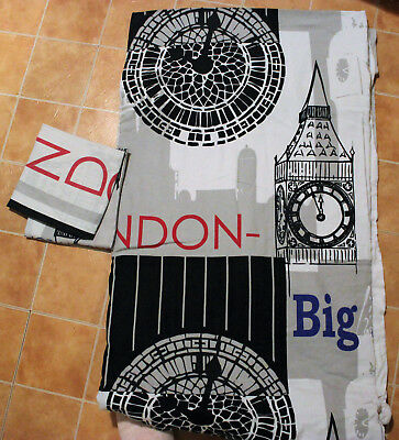 Housse de Couette 220*240 2taies d'oreillers london big ben
