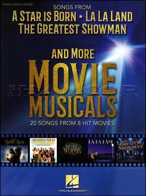 Songs From A Star Is Born La La Land Greatest Showman Piano Vocal PVG Music Book