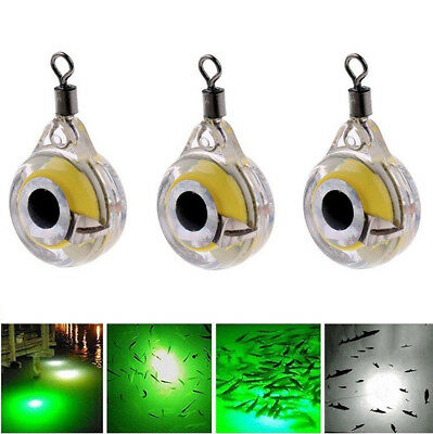 Novelty Night Fishing Light Lure Fluorescent Glow LED Underwater Fishing Tackle