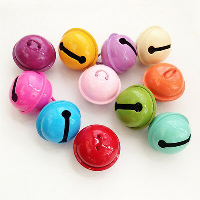 10pcs Metal Bell for Gift Decor 22mm Candy Paint Small Bell DIY Pet Accessories
