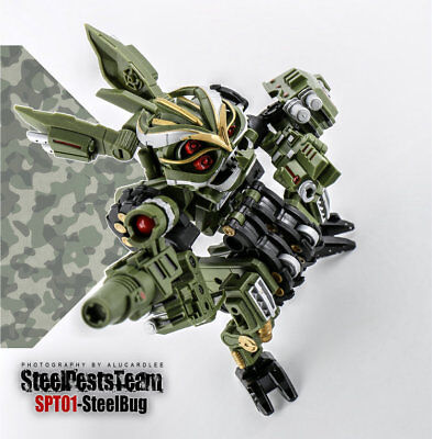 TF Dream Factory SPT01 Transformation Toy Steel Pests Team Action Figure