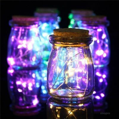 100 LED 10M String USB Supply White/Colorful Copper Wire Xmas Party Fairy Lights