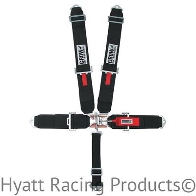 Crow Racing Seat Belts Harness, Pull Down, Bolt In (11002-1006)