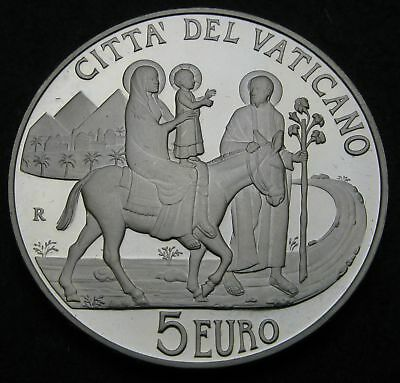 VATICAN 5 Euro 2010 R Proof - Silver - Migrants and Refugees - 2753