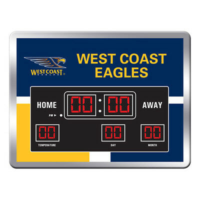West Coast Eagles Official AFL Logo Scoreboard Clock Date and Time Footy