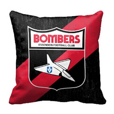 Essendon Bombers AFL Team 43cm Cushion BNWT Official Footy Home Bedroom