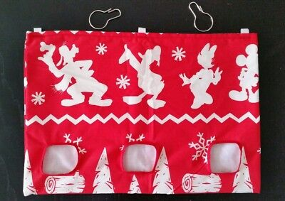 Large Fabric Hay bag winter red novelty  -  guinea pig, bunny