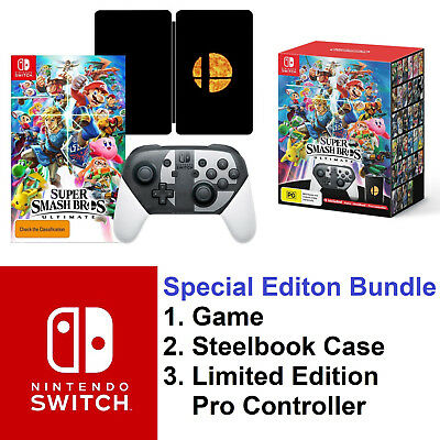 Super Smash Bros Ultimate Special Edition Nintendo Switch Game + Pro Controller
