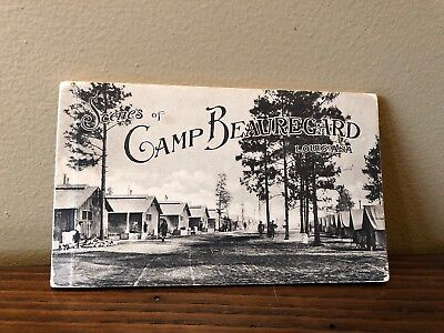10 Postcard Booklet Of CAMP BEAUREGARD Louisiana BY WWI ARMY Military Y.M.C.A.