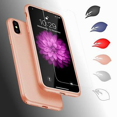 For iPhone 6 6S 7 8 Plus X XS XR Max - Thin Hard Case Protect Cover - Hybrid 360