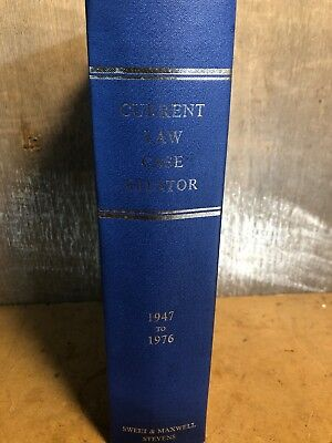 Current Law CASE CITATOR 1947 - 1976 Sweet & Maxwell / Stevens
