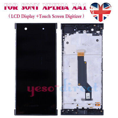 For Sony Xperia XA1 G3121 G3123 Replacement Screen Touch LCD Digitizer Frame UK