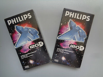2 Cassette Video PHILIPS Performance+ E-120 pour Magnetoscope  - K7 VHS Neuf