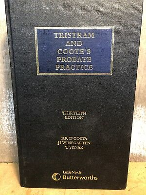 Tristram and Cootes Probate Practice 13th Edition , BUTTERWORTHS
