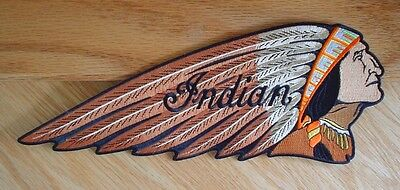 "6"" Brown Indian Motorcycle Chief Patch"
