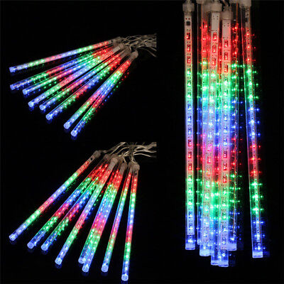 144LED Meteor Shower Rain Snowfall String Lights For Holiday Christmas Decor EU