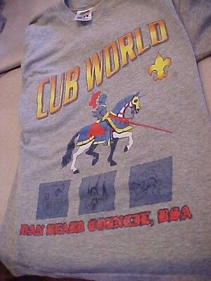 CUB WORLD T SHIRT Cub Scout ,DAN BEARD COUNCIL USA  SIZE 10/12