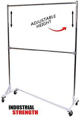 Only Hangers Industrial Strength Z Rack with Add-On Hangrail -White