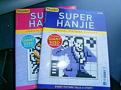 Super Hanjie Puzzle Books Issues 101,102, (new) 2018