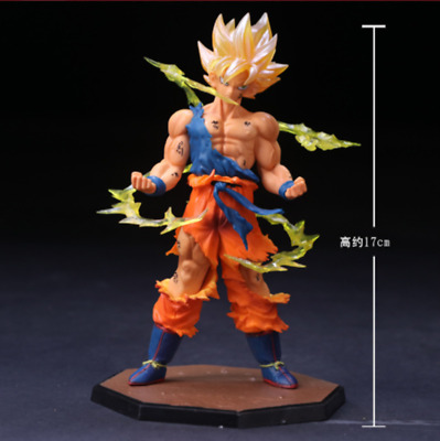 Super Dragon Ball Z Son Goku A2 Blood of Saiyan BOS Super Saiyan PVC Figure NB