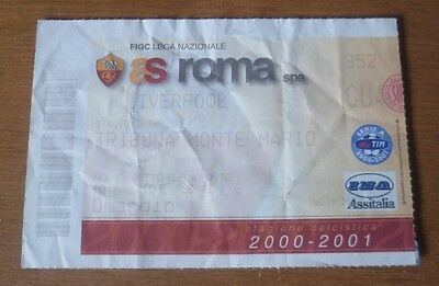 Roma v Liverpool (Winners), 2000/01 - UEFA Cup 4th Rd Match Ticket.
