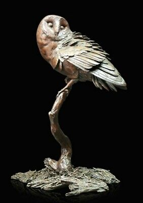 Night Owl Solid Bronze Foundry Cast Sculpture by Michael Simpson [1040]