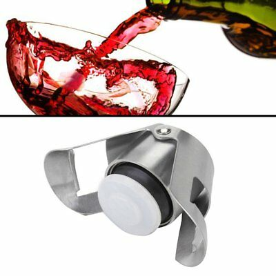 Champagne Wine Bottle Stopper 430 Stainless Steel Sparkling Wine Bottle Plug LY